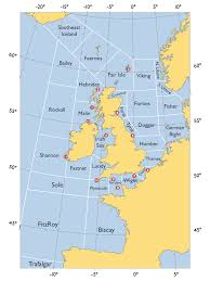 English Channel Map Level 1 Map Of Shipping Forecast Zones Memrise