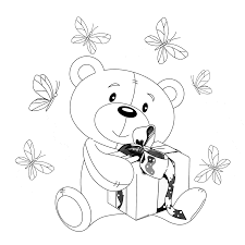teddy bear big teddy bear and smaller teddy bear coloring page