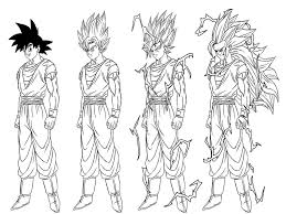 dragon ball z coloring pages goku super saiyan form coloringstar