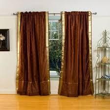 3 Inch Rod Pocket Sheer Curtains Rust Sheer Sari 84 Inch Rod Pocket Curtain Panel Pair India