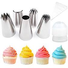 How To Decorate Stainless Steel Amazon Com Pastry Bag Cupcake Cake Decorating Tips 8 Pcs