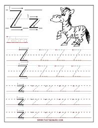 printable letter tracing worksheets printable letter z tracing worksheets for preschool kids