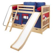 laugh twin over twin slat slide bunk bed hayneedle