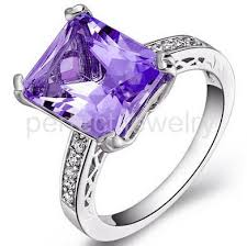 rings with amethyst images Amethyst ring natural real amethyst 925 sterling silver rings jpg