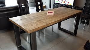 cuisine bois acier meuble industriel bois et metal affordable prix rduit buffet