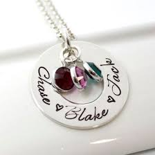 Necklaces With Children S Names Buy Hand Made Mother U0027s Personalized Jewerly Hand Stamped