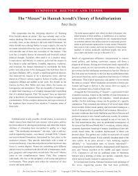 the u0027masses u0027 in hannah arendt u0027s political theory pdf download