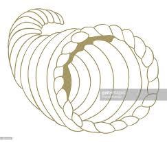 digital illustration of cornucopia or horn of plenty a symbol of