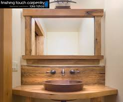 Repurposed Furniture For Bathroom Vanity Rustic Barn Wood Bathroom Vanities Repurposed Barn Wood Furniture