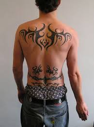 back tribal designs are believed to be for the