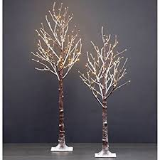 2pk led flocked twig trees 5 5 ft tree with 168 led