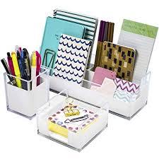 Amazoncom  Sorbus Acrylic Desk Organizers Set  3Piece Includes