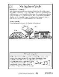 light and shadows lesson plans 5th grade science worksheets drawing shadows greatschools
