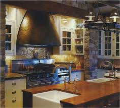 Farmhouse Style Kitchen Islands by Amazing American Colonial Style Kitchen Features Rectangle Shape