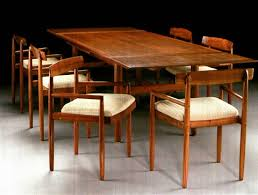 Refectory Dining Tables Early Refectory Dining Table With Six Carved Chairs By Sam Maloof
