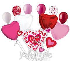 heart balloon bouquet pink hearts cluster i you balloon bouquet jeckaroonie