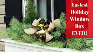 Window Box Decorations For Christmas by Easiest Christmas Window Box Idea Ever Youtube