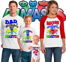 pj masks inspired theme family birthday shirts sweet tees