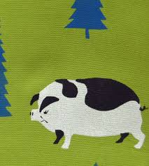 hand printed pig forest pillow home decor u0026 lighting sosie