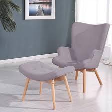 fauteuil design fauteuil scandinave tissu gris stockholm achat vente