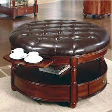 coffee tables splendid large round leather ottoman coffee table