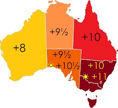 australia time zone map australia time zone map australia time
