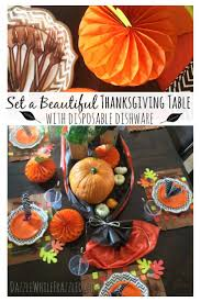 make an easy clean thanksgiving table thanksgiving table plastic