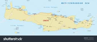 Map Of Crete Greece by Crete Map Stock Vector 158389265 Shutterstock