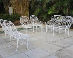 Wire Patio Chairs French Settee Etsy