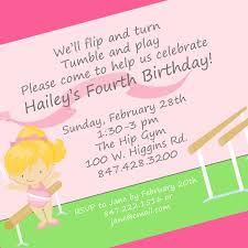 Halloween Birthday Party Wording Gymnastics Birthday Party Invitation Wording Home Party Ideas