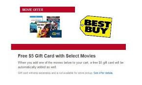 best buy free gift card with select movies southern savers