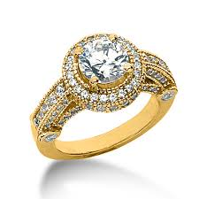 Gold Wedding Rings by Vintage Yellow Gold Engagement Rings Elite Wedding Looks