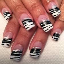 nails design black and white