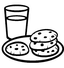 A Plate Of Cookies With A Glass Of Milk Coloring Pages Cookie Coloring Cookies