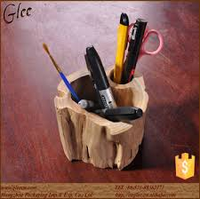 Desktop Decorations Creative Wood Pen Holder Thai Desktop Decorations View Pen Holder