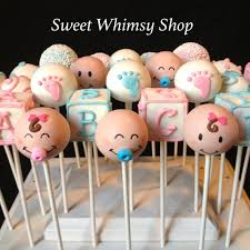 Cake Pop Decorations For Baby Shower 12 Baby Face Cake Pops For Baby Shower Gender By Sweetwhimsyshop