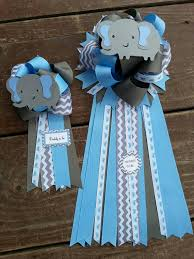 Mom To Be Corsage Set Of Two Baby Shower Mom To Be And Dad To Be Elephant Baby
