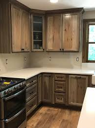 hickory grey stained kitchen cabinets grey stained rustic hickory shawgo superior cabinetry