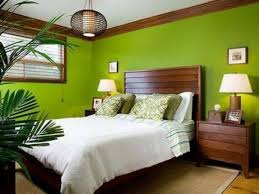Wonderful  Bright Tropical Bedroom Designs   Bright Tropical - Green color bedroom ideas