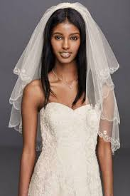 davids bridal hairstyles davids david s bridal white fingertip veil 689 beaded scallop edge