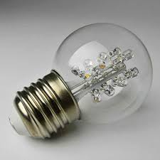 replacement led globe light bulb 2 in glass g50 0 7w 120v cool
