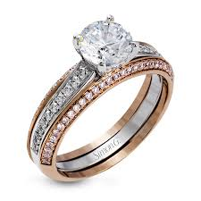pink wedding rings simon g jewelry designer engagement rings bands and sets