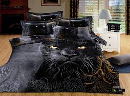 Tiger Comforter Set 100 Cotton 3d Animal Leopard Rose Tiger Wolf Lion Bedding Bed