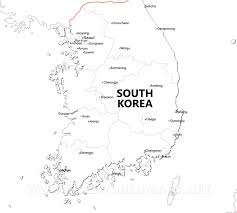 Map Asia Blank by South Korea Maps