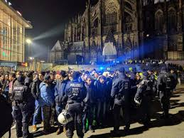 immigrant mobs riot grope women at halloween celebrations in germany