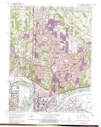 Map Of Kansas City North Kansas City Topographic Map Mo Ks Usgs Topo Quad 39094b5