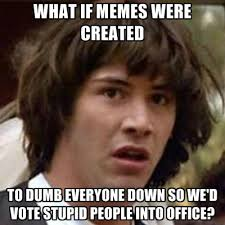 Memes About Stupid People - what if memes were created to dumb everyone down so we d vote
