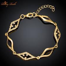 gold chain bracelet with charm images Handmade chain bracelet images jpg