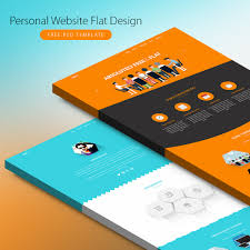 personal website flat design free psd template download download psd