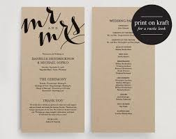 printing wedding programs wedding program printable template printable program diy